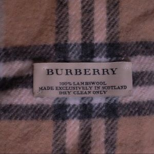 Burberry Accessories - Burberry Lambswool Brown Plaid Scarf